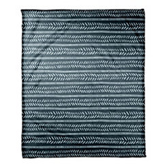 Blue Box and Dash Fleece Blanket