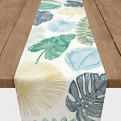 Colorful Palms Cotton Table Runner