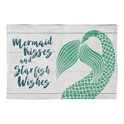 Mermaid and Starfish Non-Skid Accent Rug