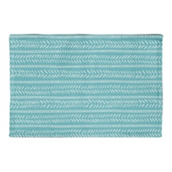 Teal Box and Dash Non-Skid Accent Rug