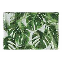 Tropical Leaves Non-Skid Accent Rug