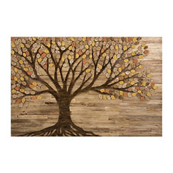 Living Tree Slatted Wood Art Print