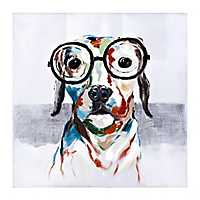 Wadley in Glasses Oil Canvas Art Print