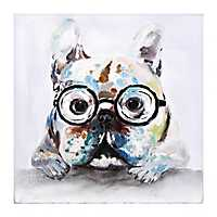 Wynford in Glasses Oil Canvas Art Print