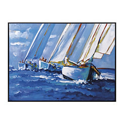 Oil Sail Away Framed Canvas Art Print