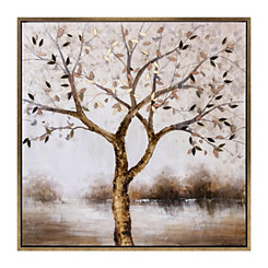 Oil Bronze Tranquility Framed Canvas Art Print