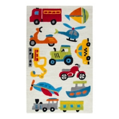 Ivory Transportation Accent Rug, 3x5