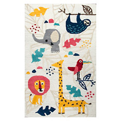 Safari Animal Accent Rug, 3x5
