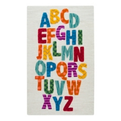 Multicolor Alphabet Accent Rug, 3x5