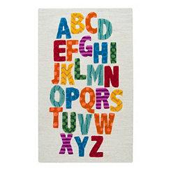 Multicolor Alphabet Accent Rug, 3x5