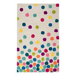 Confetti Dots Accent Rug, 3x5