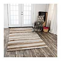 Tan Tatum Stripe Area Rug, 5x8