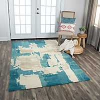 Multicolor Gabe Abstract Area Rug, 8x10