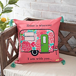 Pink Camper Simply Southern Pillow