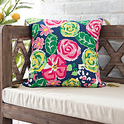 Multicolor Floral Simply Southern Tassel Pillow