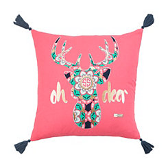 Pink Deer Simply Southern Pillow