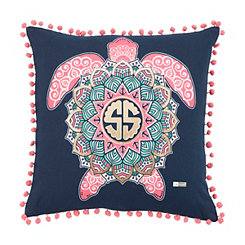 Blue and Pink Turtle Simply Southern Pillow
