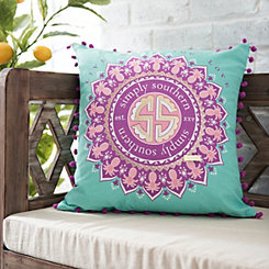 Mint and Purple Medallion Simply Southern Pillow