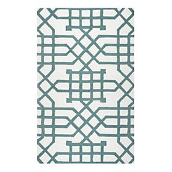 Sage Geometric Outdoor Area Rug, 5x8