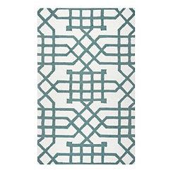 Sage Geometric Outdoor Area Rug, 5x8