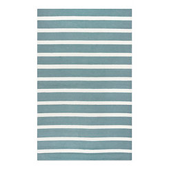 Sage and White Stripe Outdoor Area Rug, 5x8