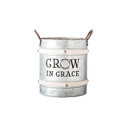 Grow in Grace Galvanized Bucket Planter