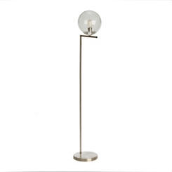 Zoe Seeded Glass Globe Floor Lamp