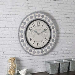 Patio Pavers Outdoor Thermometer Clock