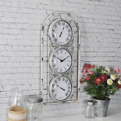 Window Station White Thermometer Hygrometer Clock