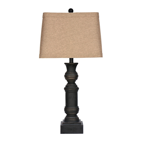 Livy Black Distressed Table Lamp
