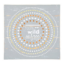 Young, Wild, and Free LED Wall Plaque