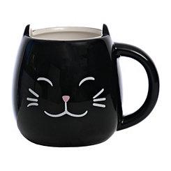 Black Cat Figural Mug