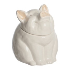 White Piggy Nose Canister