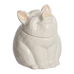 White Piggy Nose Canister
