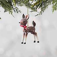 Red Bow Vintage Deer Ornament