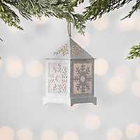 Pre-Lit Cream Snowflake Lantern Ornament