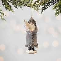 Neutral Vintage Santa Ornament