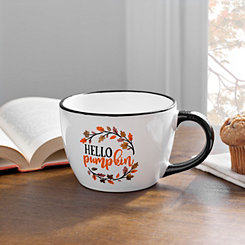 Hello Pumpkin Black Rim Mug