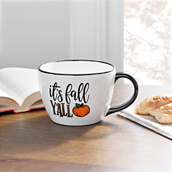 It's Fall Y'all Black Rim Mug