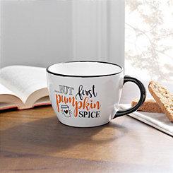 Pumpkin Spice Black Rim Mug