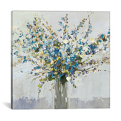 Blue Bouquet Canvas Art Print