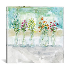 Colorwash Bouquet Canvas Art Print