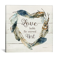 Feather Love Nest Canvas Art Print