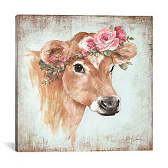Rosie Cow Canvas Art Print