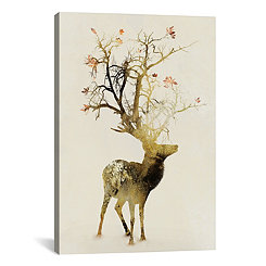 Autumn Deer Canvas Art Print
