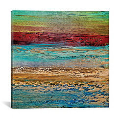 Abstract Coastal Canvas Art Print