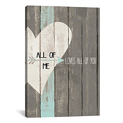 All of Me Faux Wood Plank Canvas Art Print