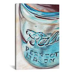 Mason Jar I Canvas Art Print