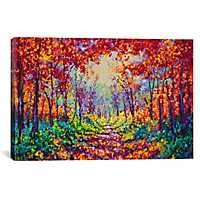 Luminous Forest Canvas Art Print