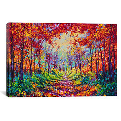 Luminous Forest Canvas Art Print